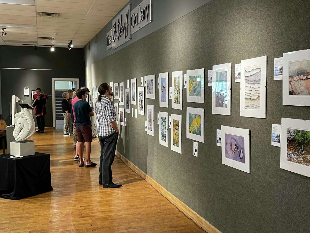 Opening reception of Geology Rocks at Artworks on Thursday, July 15.(Pioneer photo/Gena Harris)