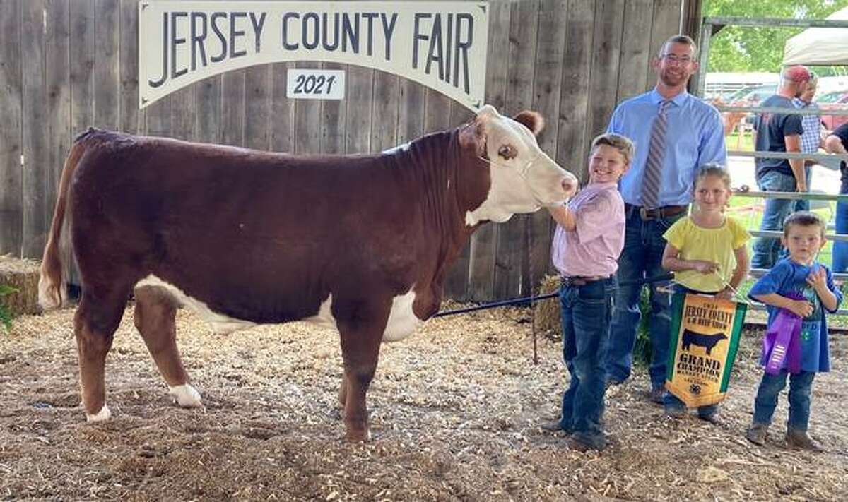 Jersey County 4-H members exhibited over more than projects at the summer 4-H shows July 9-12 at the Jersey County Fairgrounds. Here is the Grand Champion Market Steer.