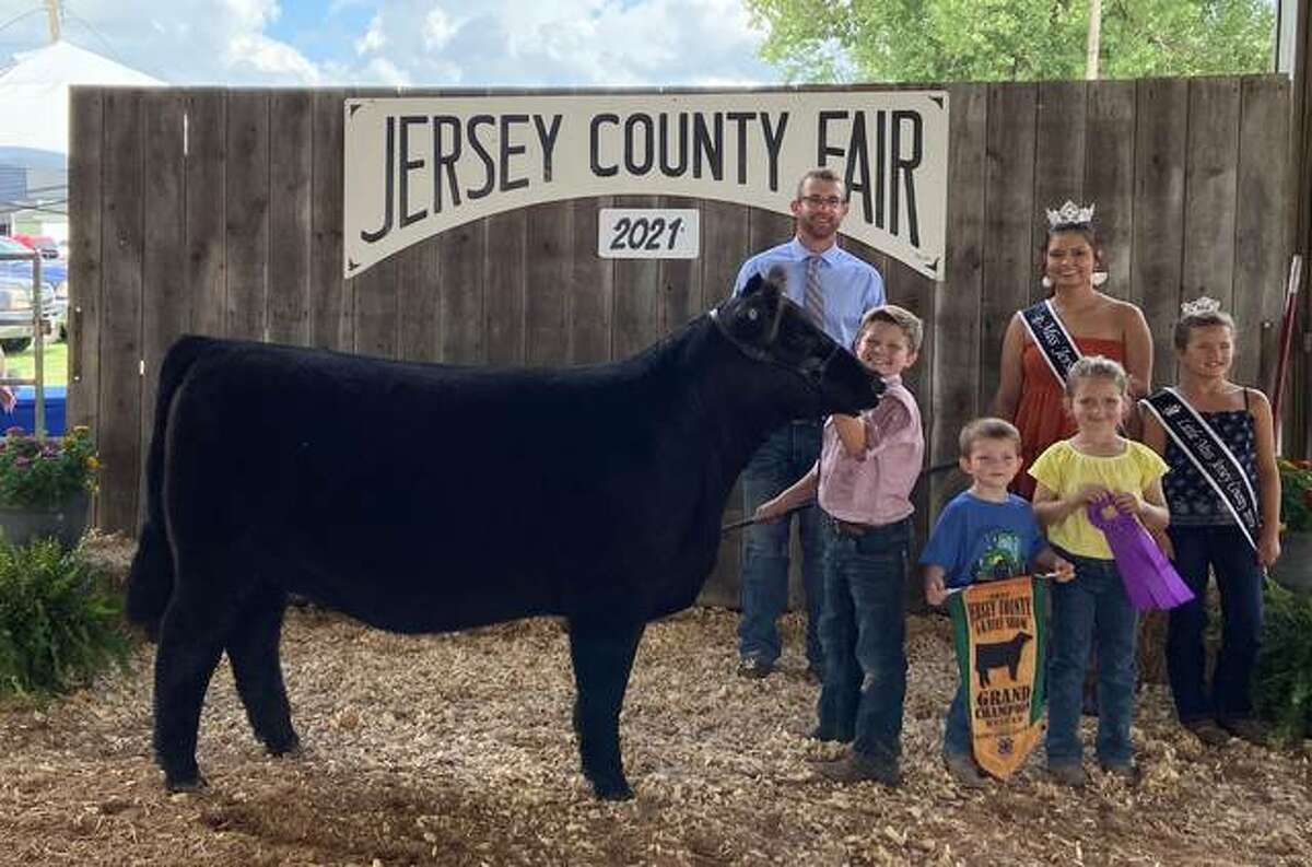 Jersey County 4-H members exhibited over more than projects at the summer 4-H shows July 9-12 at the Jersey County Fairgrounds. Here is the Grand Champion Heifer.