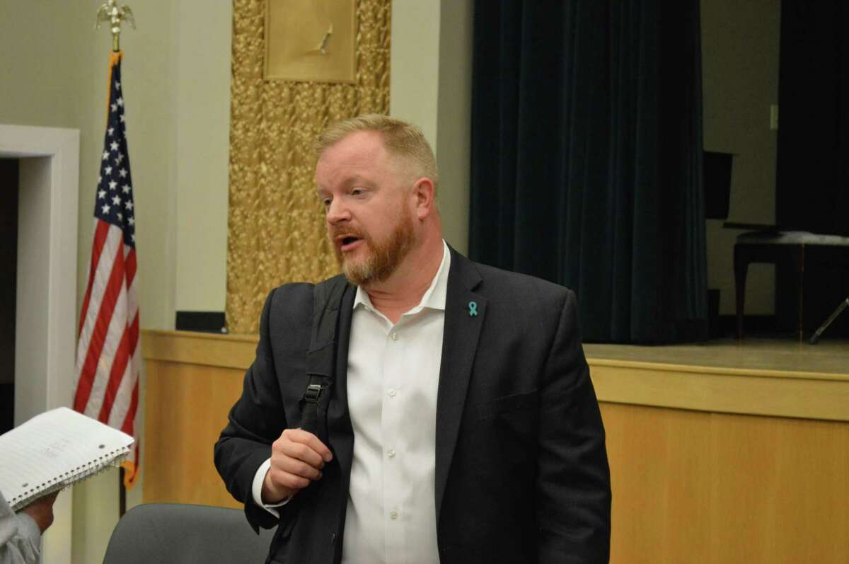 Hamden Legislative Council President Michael McGarry, May 6, 2019.