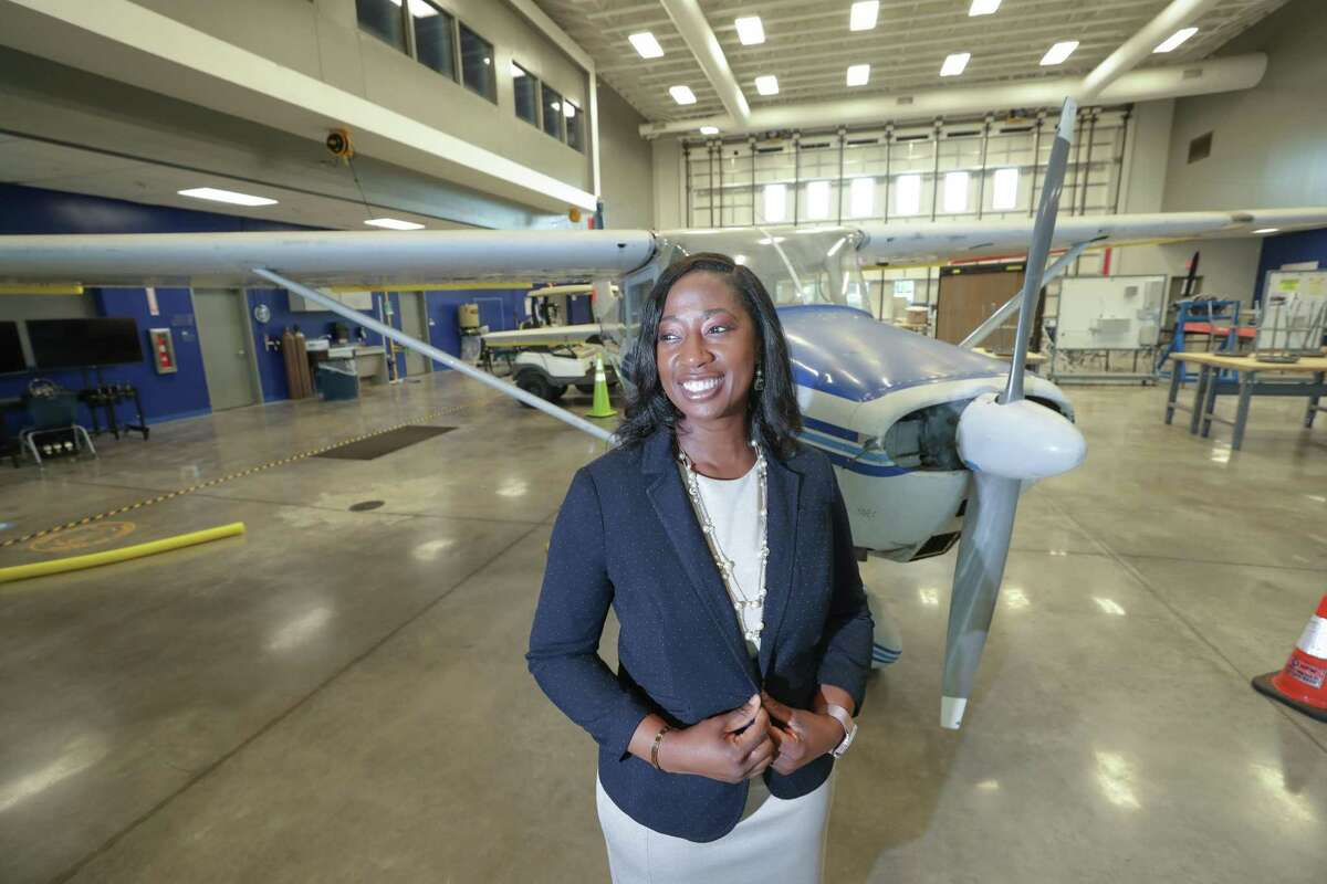 Sterling High School principal Tabitha Davis leads a campus which features early college and aviation magnet programs.