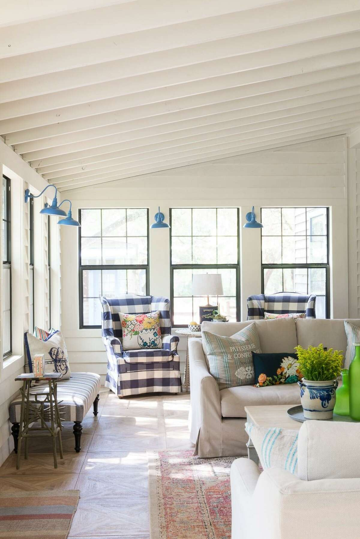 Rooms with low ceilings can feel larger if you remove the ceiling and let the roofline form the ceiling of a home or room.