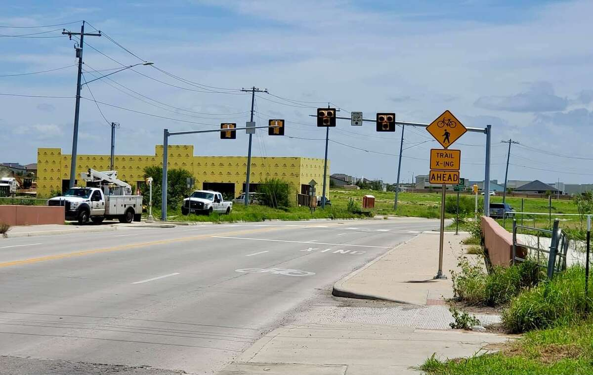 A new pedestrian crossing signal has been constructed at Bartlett Avenue and will be operational Wednesday to improve walking and biking safety.