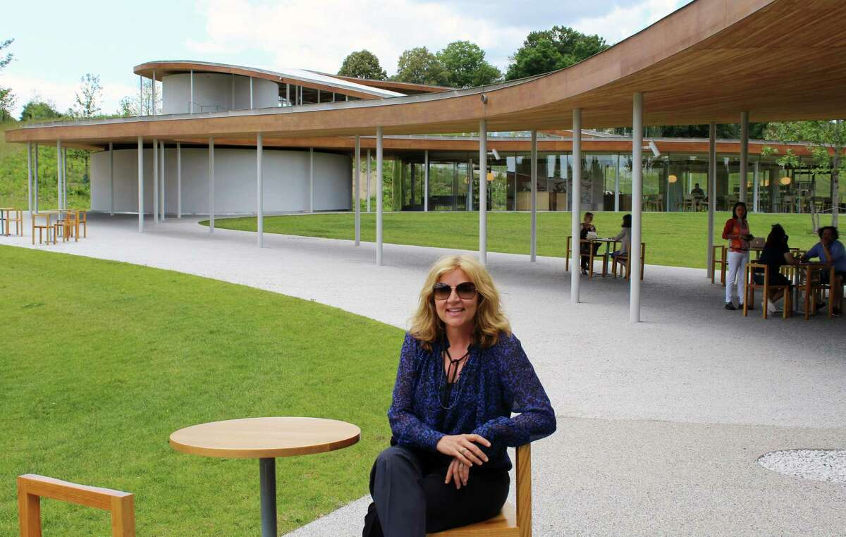 Sharon Prince, founder and CEO of the Grace Farms Foundation, outside the River Building in New Canaan.