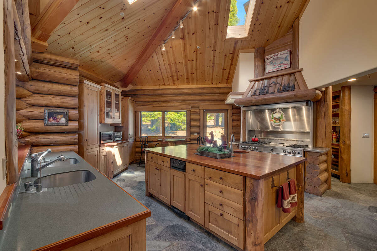 The kitchen is designed for commercial cooking.