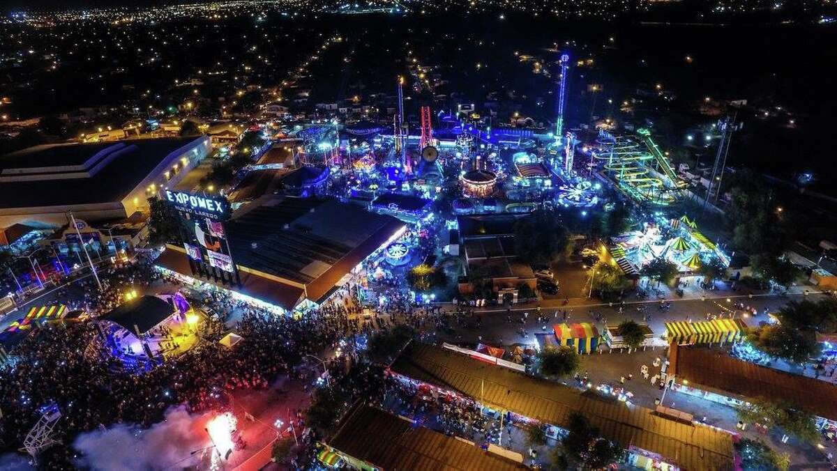 This Sept. 18, 2016 photo shows an aerial view of Expomex. The city announced the cancellation of the event for the second straight year due to COVID-19.