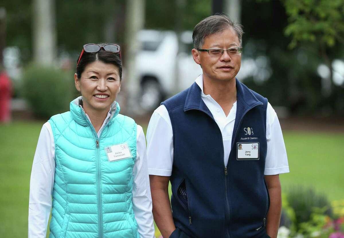 Jerry Yang and Akiko Yamazaki, co-founder and philanthropist of Yahoo