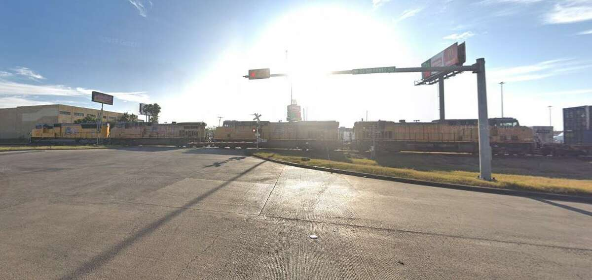 Pictured is the intersection of Uniroyal Drive and Frontage Road. An accident occurred Monday as a train hit a tractor-trailer. No injuries were reported.