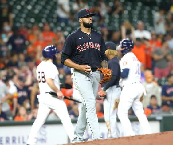 Houston Astros host Cleveland Indians at Minute Maid Park on Monday, July 19, 2021. Houston Astros host Cleveland Indians for a three-game series. Photo: Elizabeth Conley/Staff Photographer / © 2021 Houston Chronicle