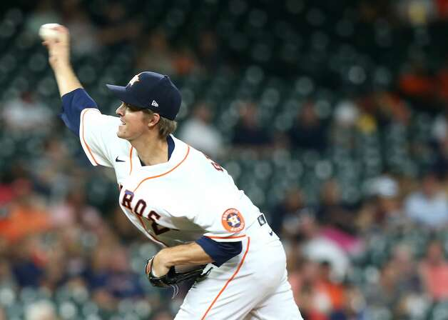 Houston Astros starting pitcher Zack Greinke (21) pitches in the third inning against Cleveland Indians at Minute Maid Park on Monday, July 19, 2021. Houston Astros host Cleveland Indians for a three-game series. Photo: Elizabeth Conley/Staff Photographer / © 2021 Houston Chronicle