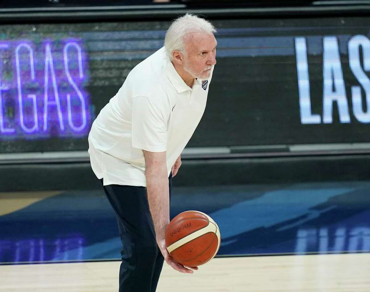 """""""It's a little bit different,"""" said head coach Gregg Popovich of the numerous adjustments his U.S. team has had to make."""
