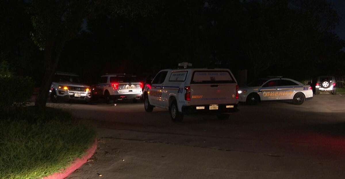 Authorities investigating a fatal shooting early Tuesday at a north Harris County apartment complex. One woman was killed.