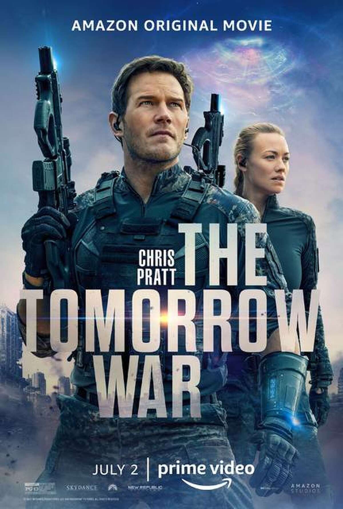"""Chris Pratt teams up with an all-star task in a desperate quest to rewrite history and save the planet in """"The Tomorrow War"""" now showing on Amazon Prime."""
