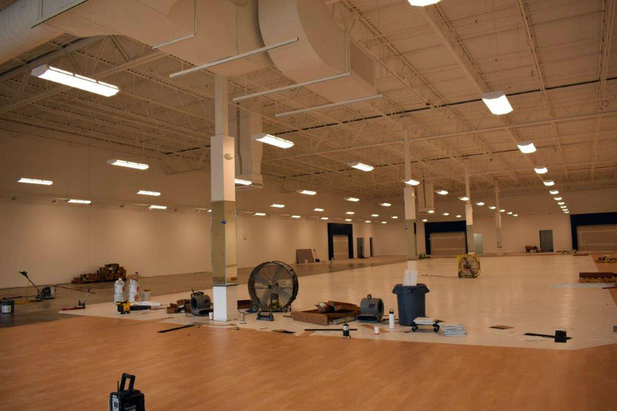 Construction on the new Marshall's store which is set to open at 1250 Perry Ave., in the Ferris Commons shopping center in September is progressing quickly.