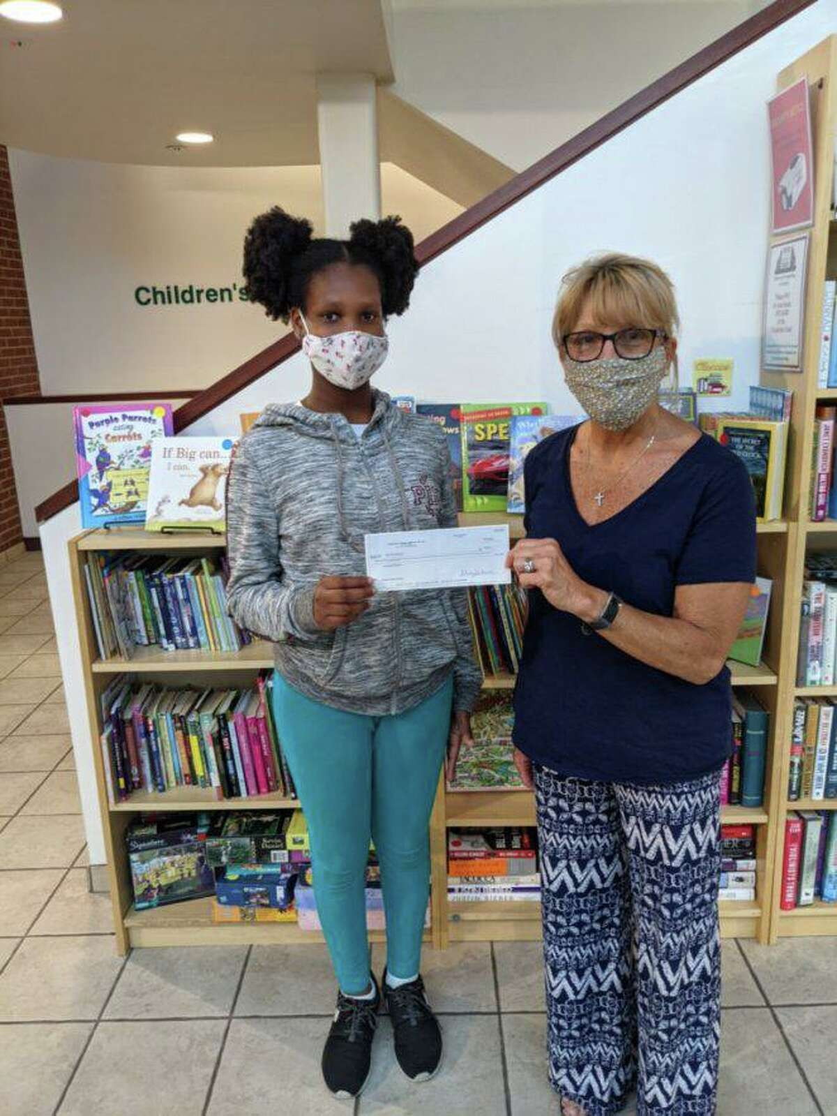 North Haven Garden Club Youth Chair Cindy Golia presented a $25 check to Savanna Alleyne, the first place winner of the National Garden Clubs 2020 Poetry Contest, on behalf of Federated Garden Club, Inc. Youth Chair Dottie Fox.