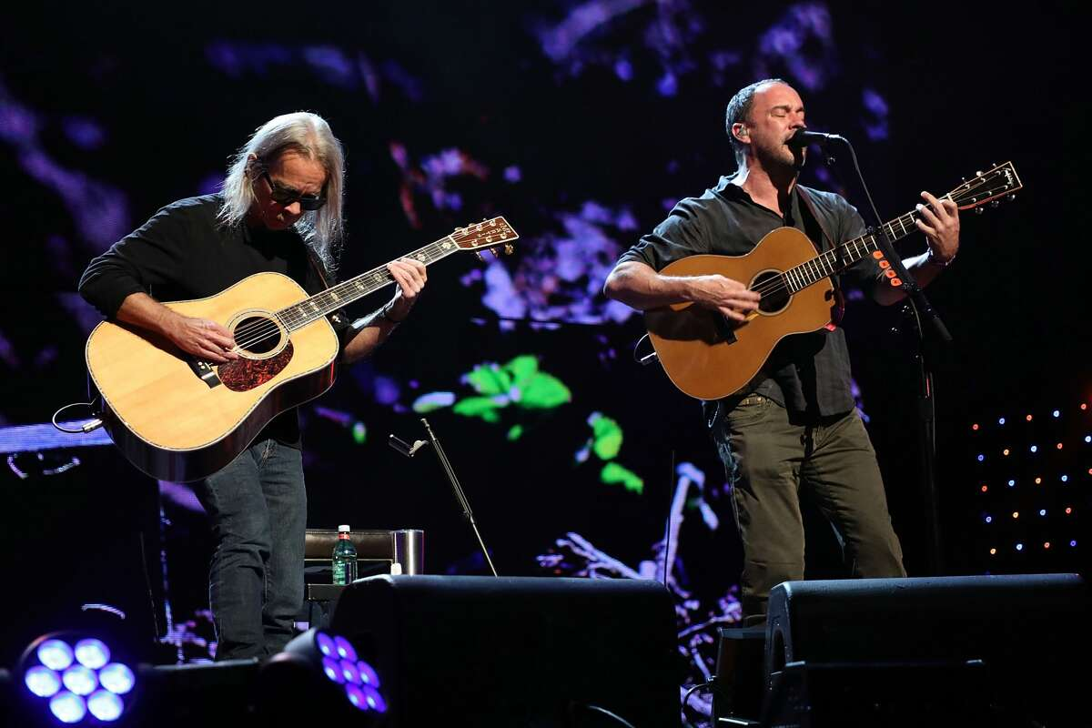 Tim Reynolds and Dave Matthews perform during Farm Aid 2018 at Xfinity Theatre on September 22, 2018 in Hartford, Connecticut.