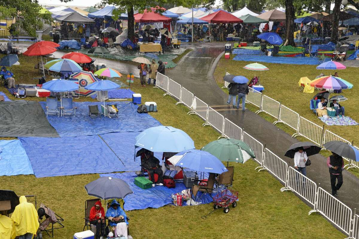 Jazz fans brave the rain at the 2018 Freihofer's Saratoga Jazz Festival at the Saratoga Performing Arts Center in Saratoga Springs. (John Carl D'Annibale/Times Union.)
