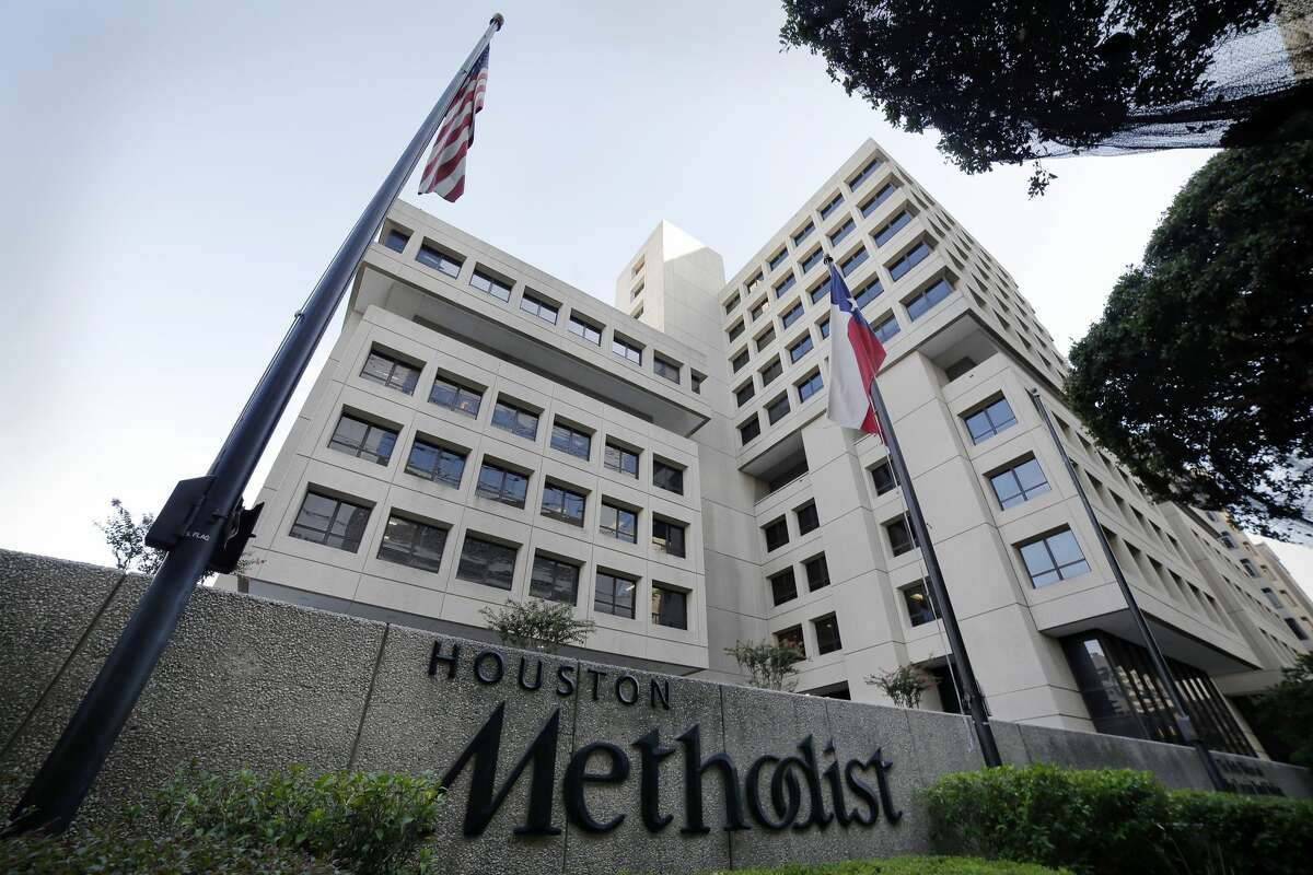 One of the Houston Methodist Hospital buildings along Fannin St. in the Texas Medical Center district Thursday, July, 23, 2020 in Houston.