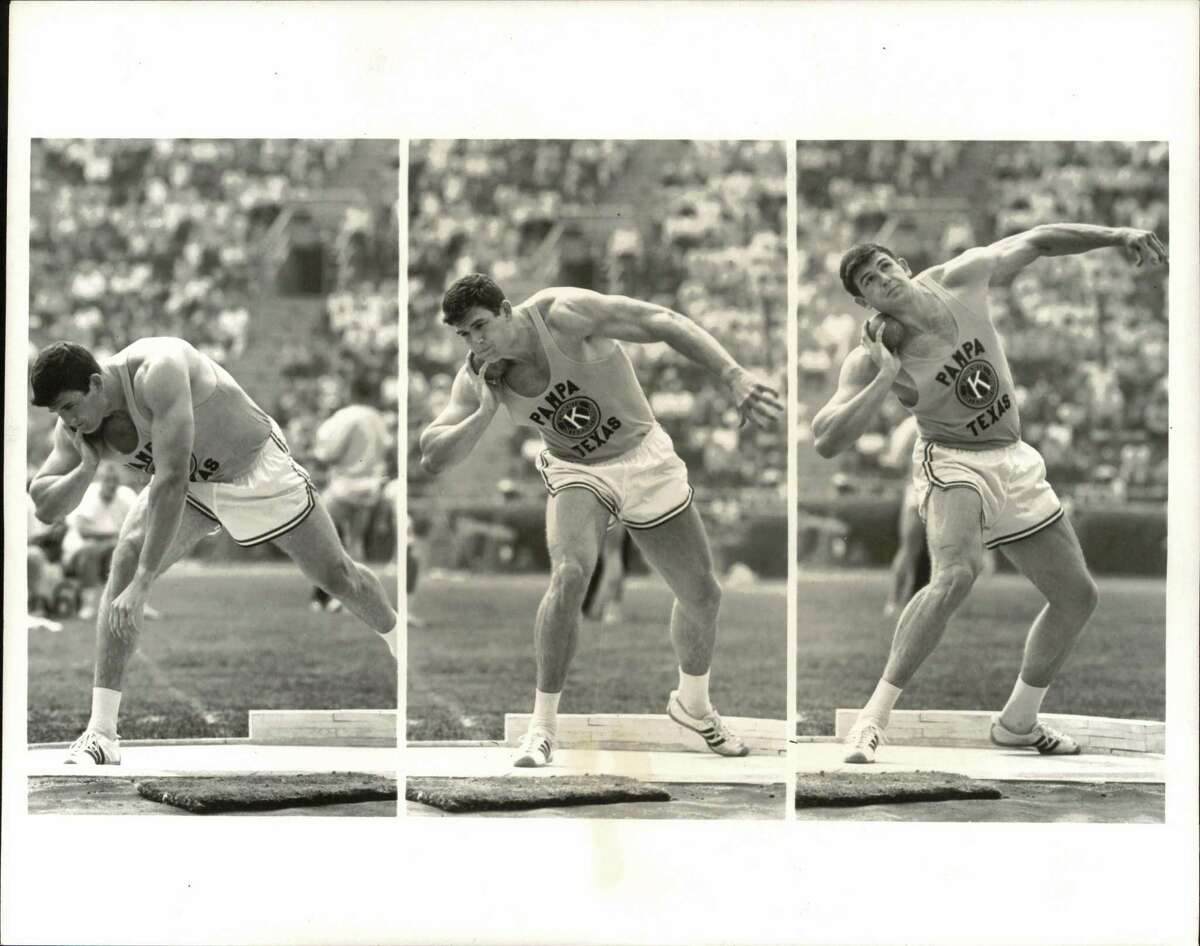 Shot putter Randy Matson of Pampa, Texas, and Texas A&M won silver in Tokyo in 1964.
