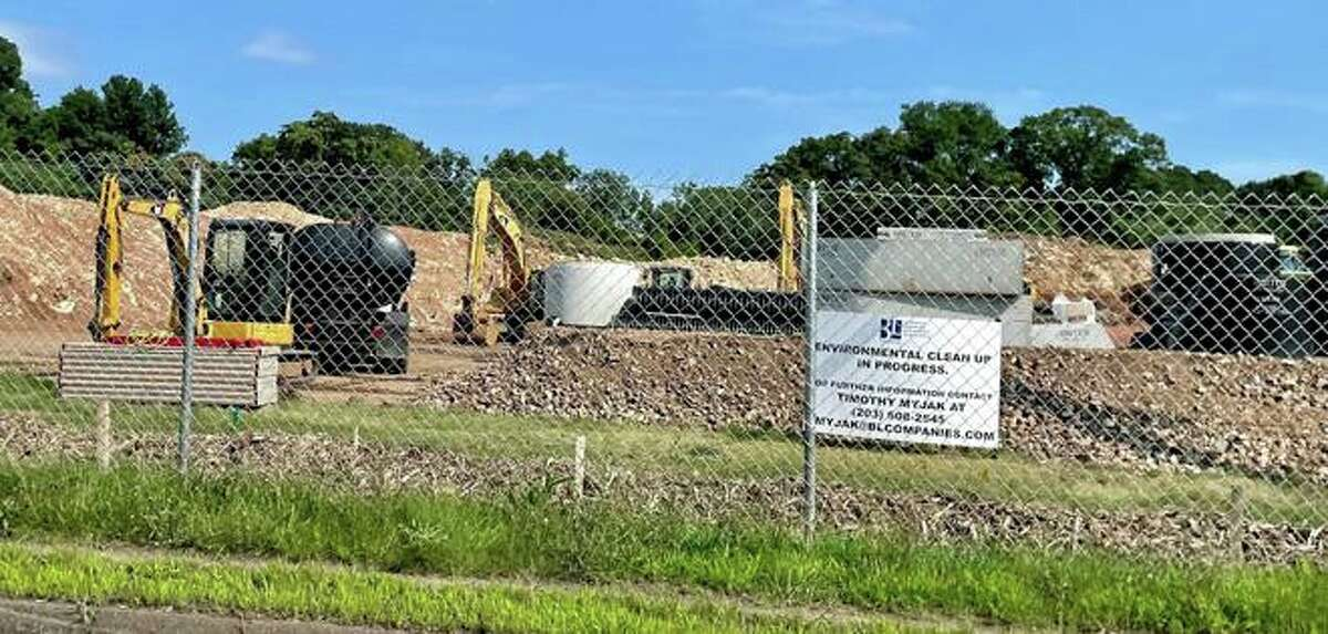 Work has started this spring at the future site of Aldi Grocery Store and Chase Bank, opposite Interstate 95 Exit 53 ramp.