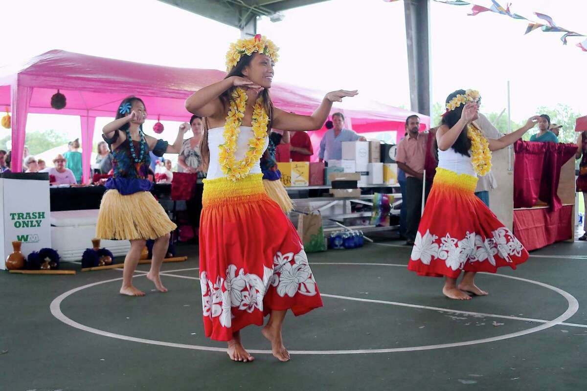 Polynesian dancers perform a traditional dance during the festival in 2013.