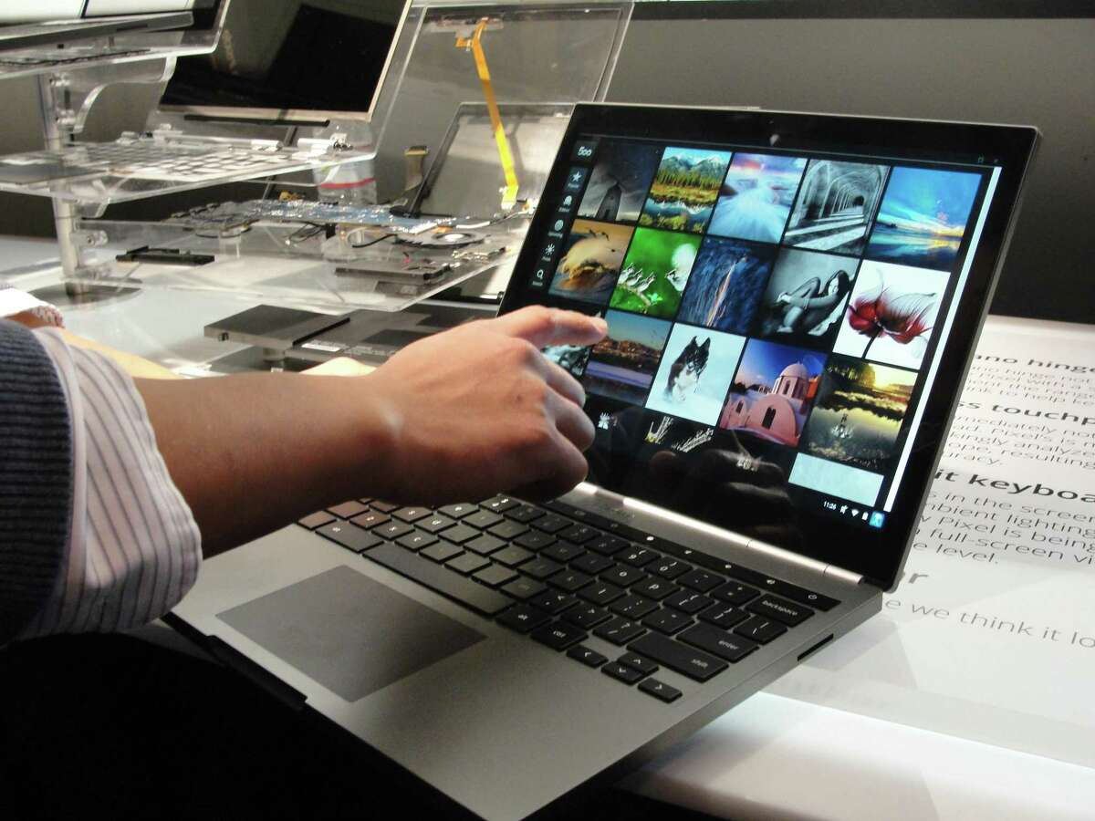 A Chromebook Pixel is on display on February 21, 2013, as Google unveiled in San Francisco the touch-screen notebook computer designed for high-end users.