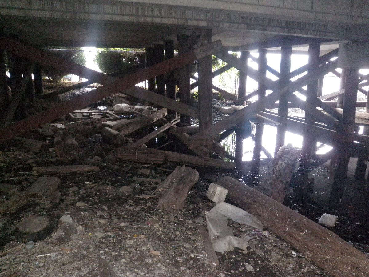 Crews found that the timber posts holding up the western half of the bridge were beginning to decay back in 2019, prompting the closure.