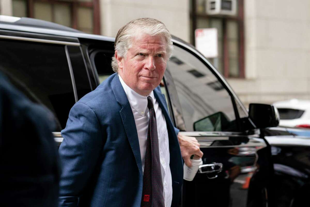 Cyrus Vance Jr., New York County District Attorney, arrives at New York State supreme court in this July 2021 file photo.(AP Photo/John Minchillo)