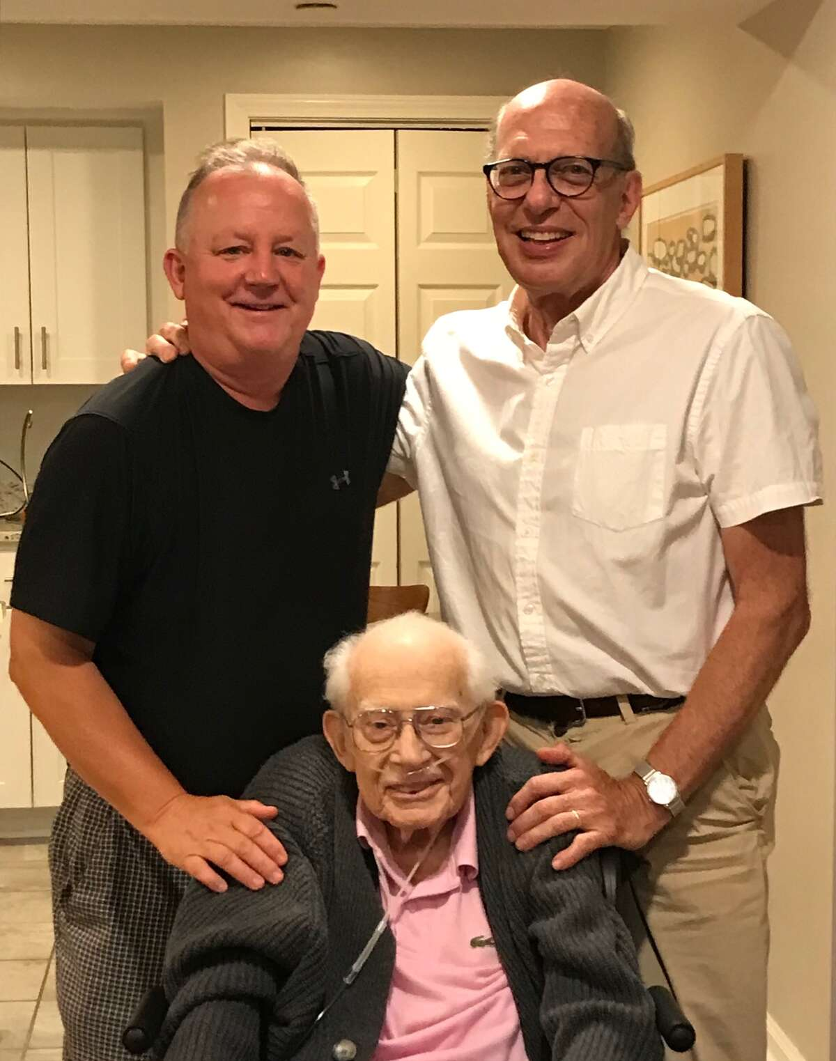 Rob Brill, former Times Union city editor, and Paul Grondahl visited with our editor and mentor, Harry Rosenfeld, at his home one week before he died on Friday at 91.