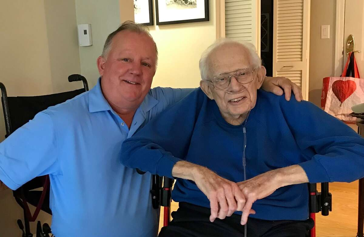 On an earlier visit with Harry Rosenfeld, who was on home hospice care, Paul Grondahl said he was grateful to be able to thank Rosenfeld for all he had taught him and done for him.