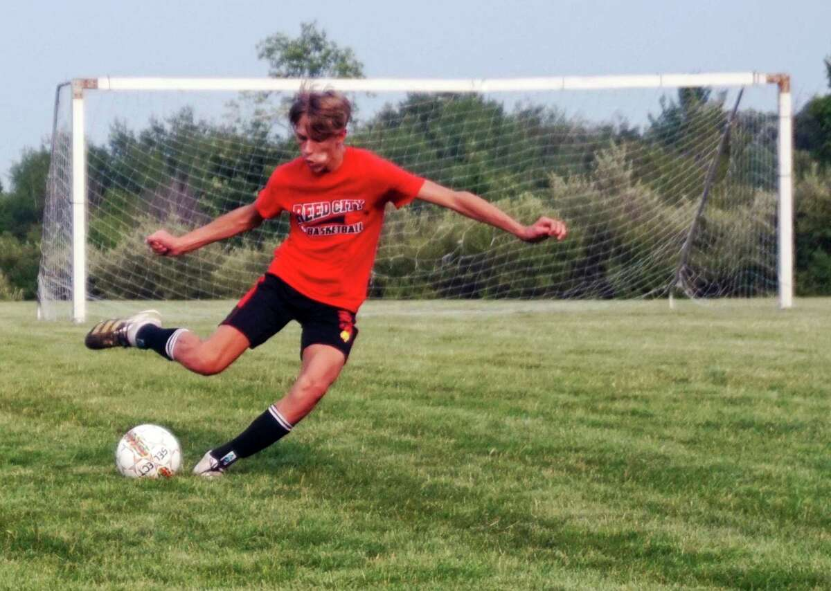 During Monday evening's practice, the Reed City soccer team worked on its dribbling and touch skills. (Pioneer photo/Joe Judd)