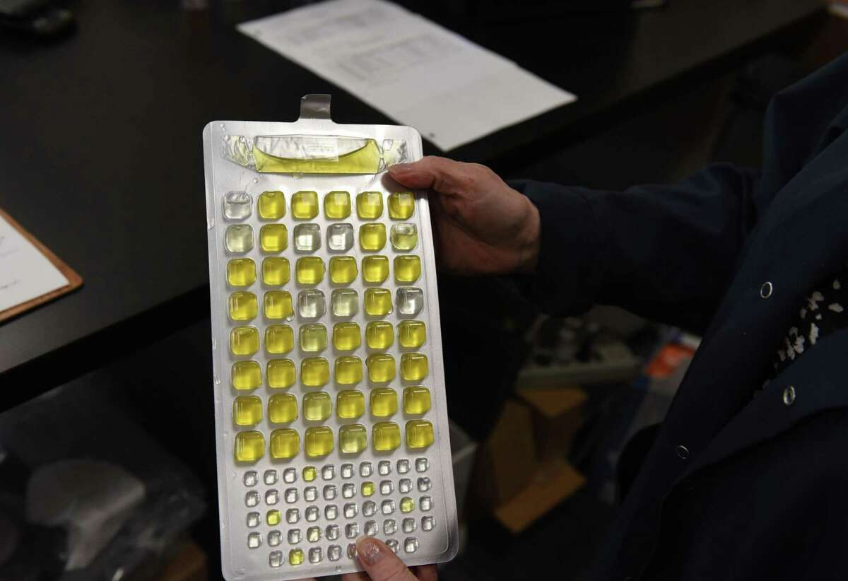 Water samples are tested for total coliform and E. coli at the Capital Region Environmental Lab facility in East Greenbush.Homebuyers can get their water tested for a number of conditions. (Will Waldron/Times Union)