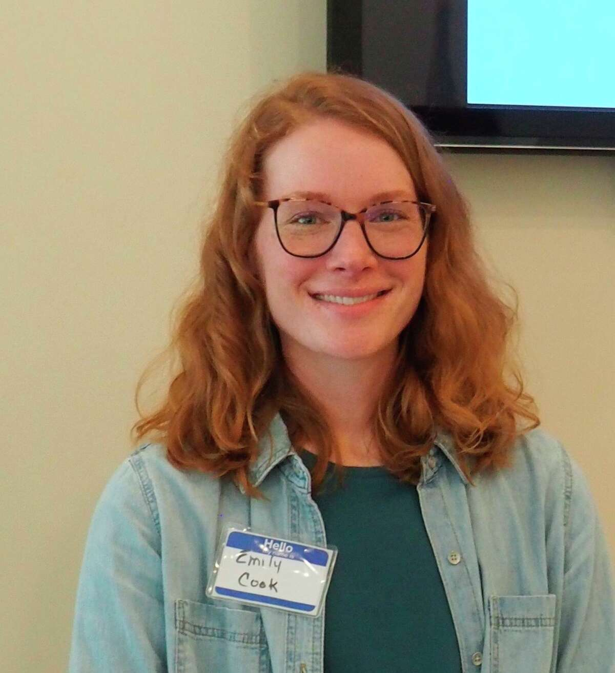 Emily Cook, outreach specialist with Northwest Michigan Invasive Species Network, spoke to the Spirt of the Woods Club Garden Club on July 12 in Manistee.