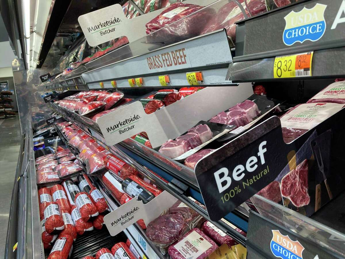 Meat freezers at grocery stores are now full, and backlogs at processing facilities areminimal one year after the pandemic.(Teresa Homsi/Huron Daily Tribune)