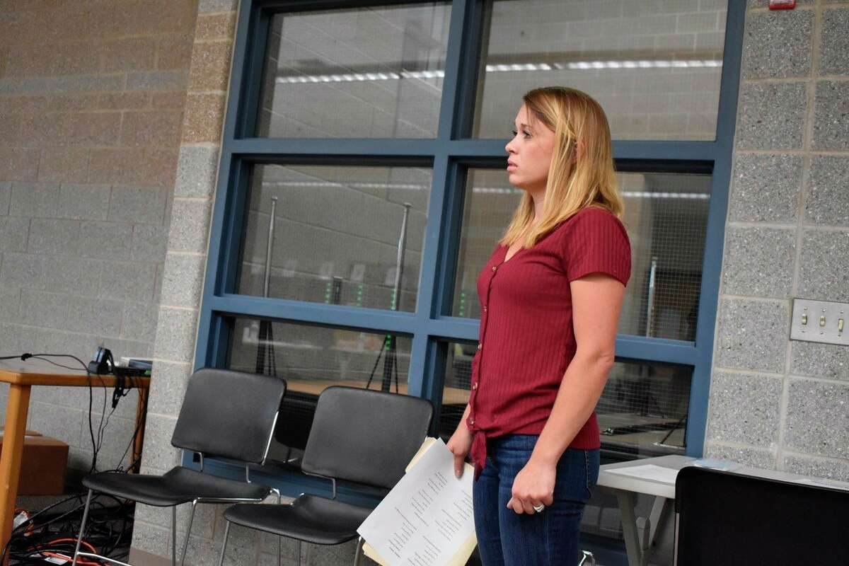 Morley Stanwood parent and alumni Billie Jean Barnes advocated for a regulation-free upcoming school year during the school board meeting on June 19, citing her son's poor experience with masks in school. (Pioneer photo/Olivia Fellows)