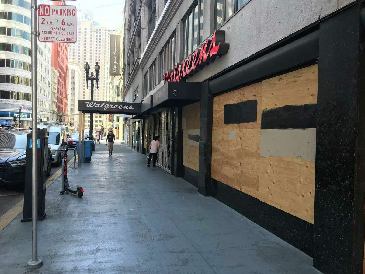 A Walgreens store on Kearny Street is one of the 17 in San Francisco that the company said it closed due to shoplifting.