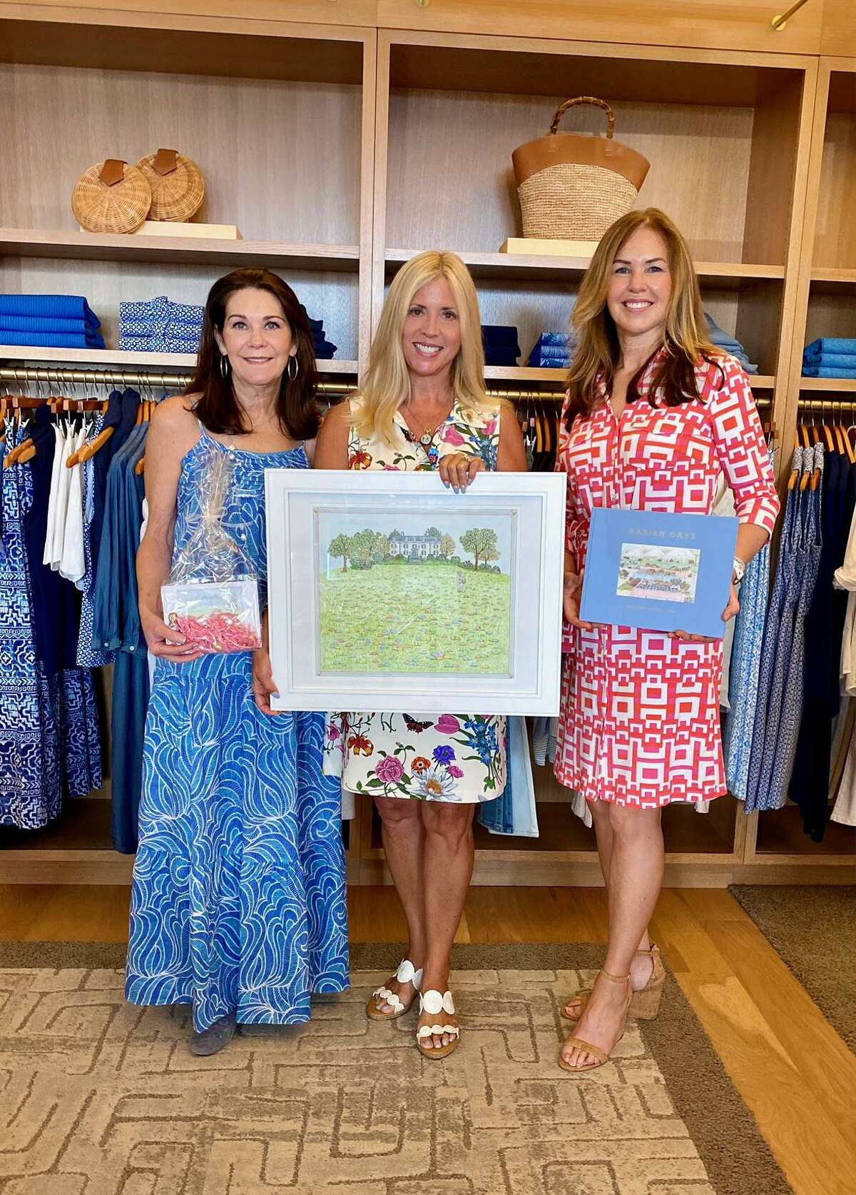 The Darien Community Association (DCA) thanked J.McLaughlin's recent Sip, Shop and Celebrate Spring event. Pictured, from left, are Suzanne Brannan, Diane Weeks, and Wanda Forlivio, DCA co-president.