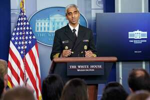 In this Thursday, July 15, 2021 file photo, Surgeon General Dr. Vivek Murthy speaks during the daily briefing at the White House in Washington.