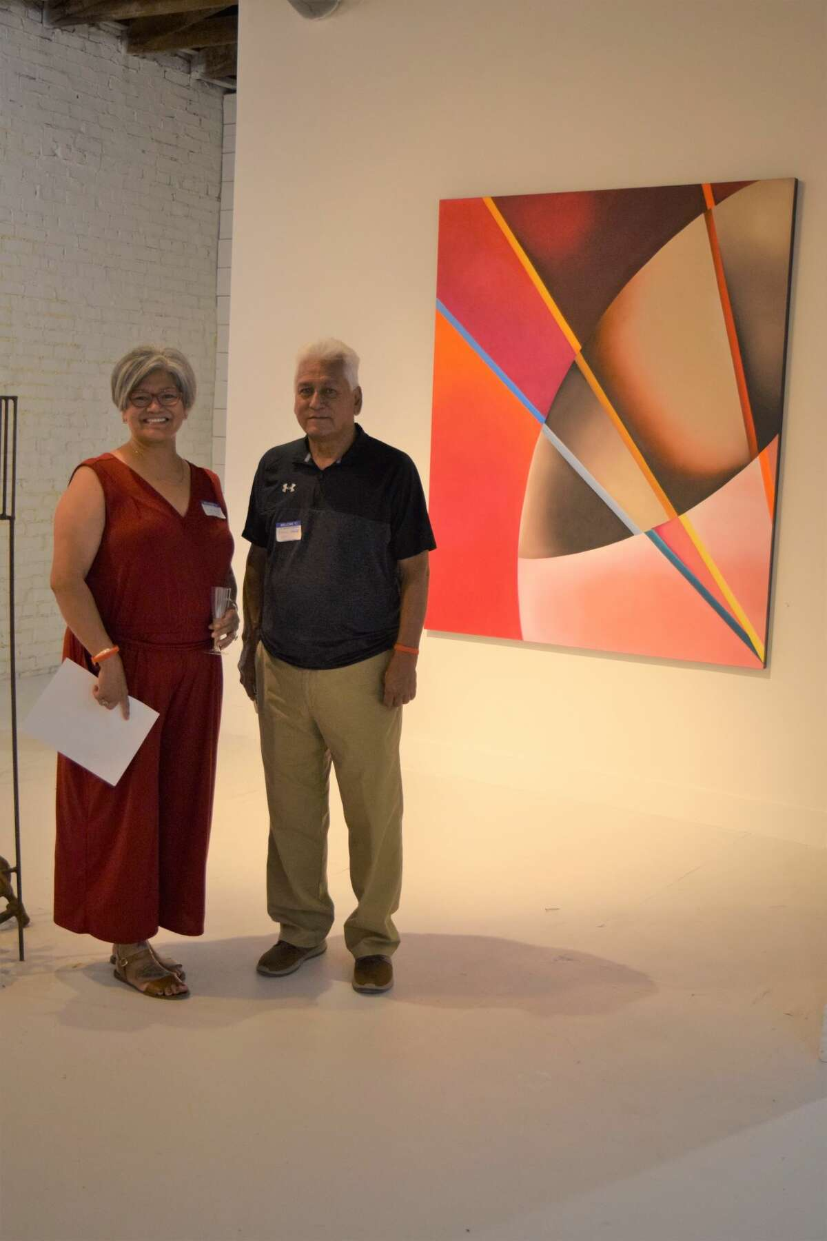 Shondai Baca and her father, Manuel Nagar, were among those who stopped by to take in the artworks. Baca is a 1989 PHS graduate and Nagar graduated in 1964.