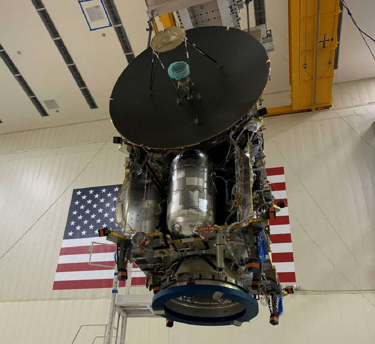 The Lucy spacecraft on Earth