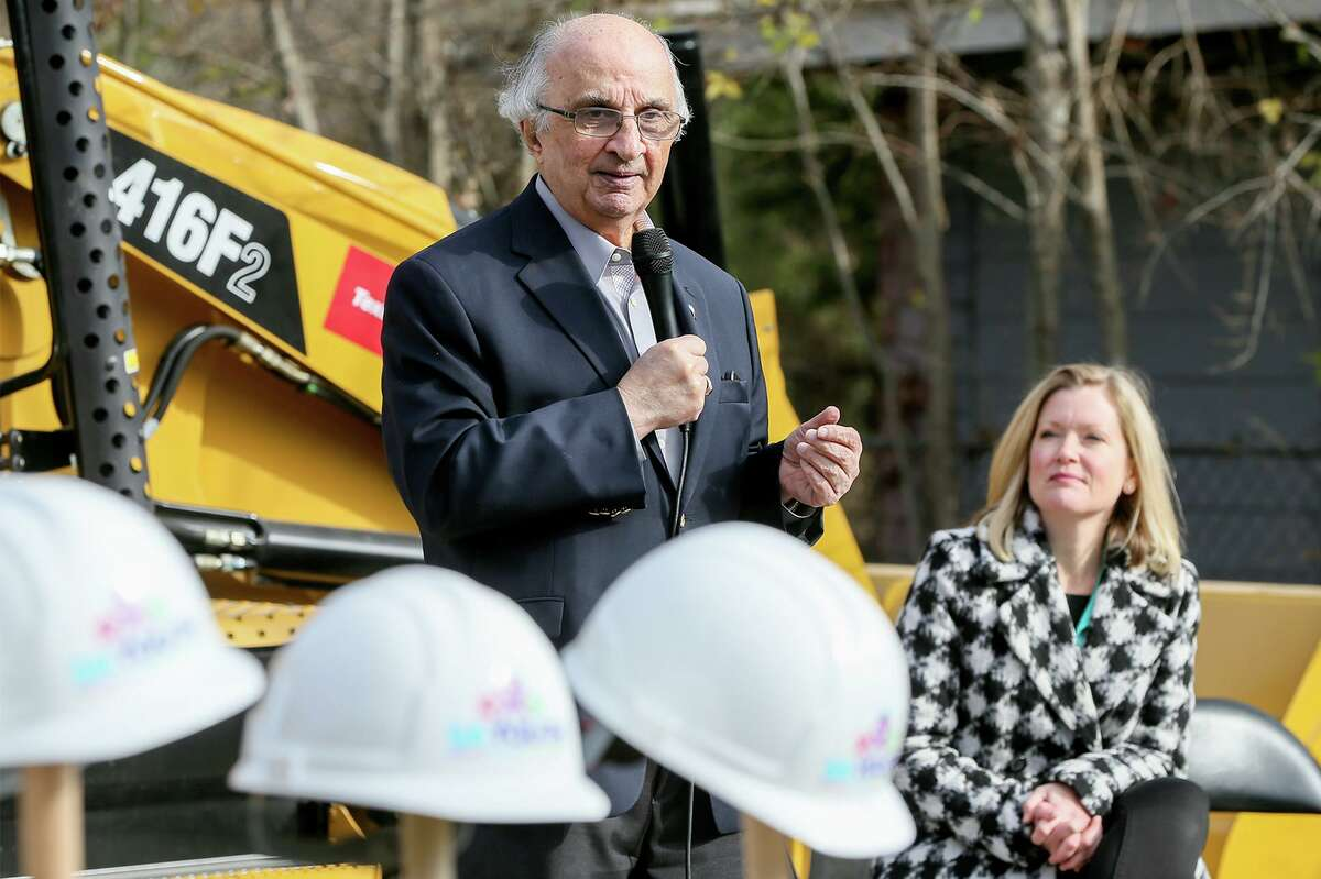 Harvey Najim, shown at a 2018 groundbreaking on the East Side, donated $800,000 for an education center at SJRC Texas' Bulverde campus. The center will be named after him.