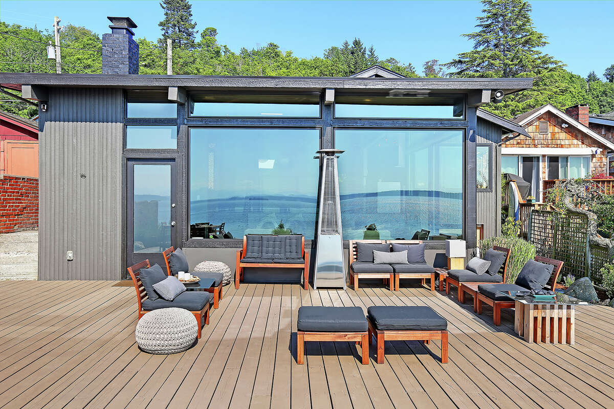 The deck offers places for lounging and enjoying the views.