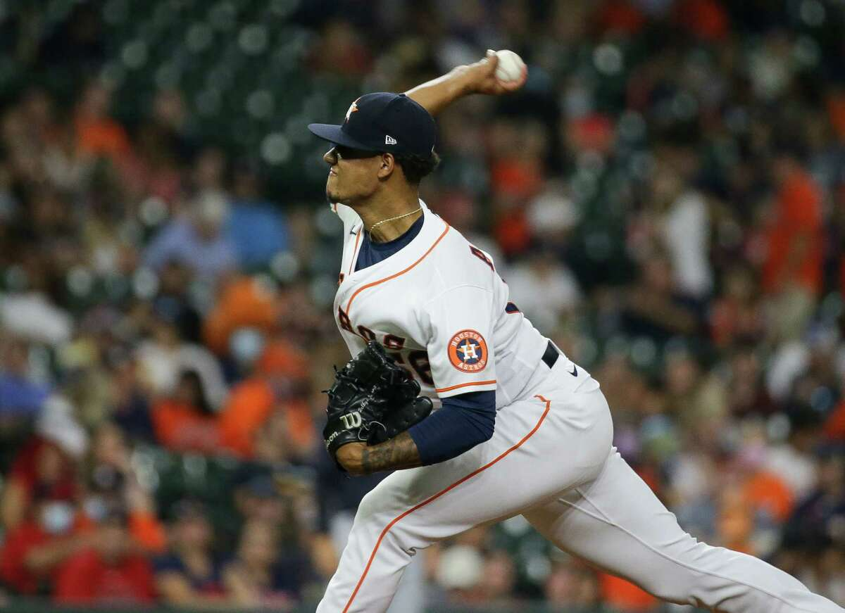 Reliever Bryan Abreu surrendered a three-run double in his lone inning of work Wednesday as the Astros failed to finish a sweep of the Indians.