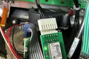 Inspectors from the Michigan Department of Agriculture and Rural Development (MDARD) found a high-tech credit card skimmer inside gas pump at a Gladwin gas station. (Courtesy/MDARD)