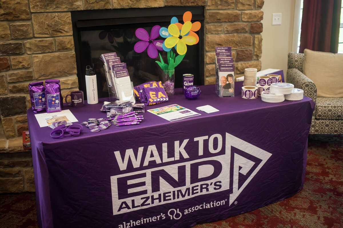 Primrose Retirement Community hosts a kick off party Tuesday, July 20, 2021 for the Walk to End Alzheimer's, which is scheduled to take place Saturday, Oct. 9 at Dow Diamond. (Katy Kildee/kkildee@mdn.net)