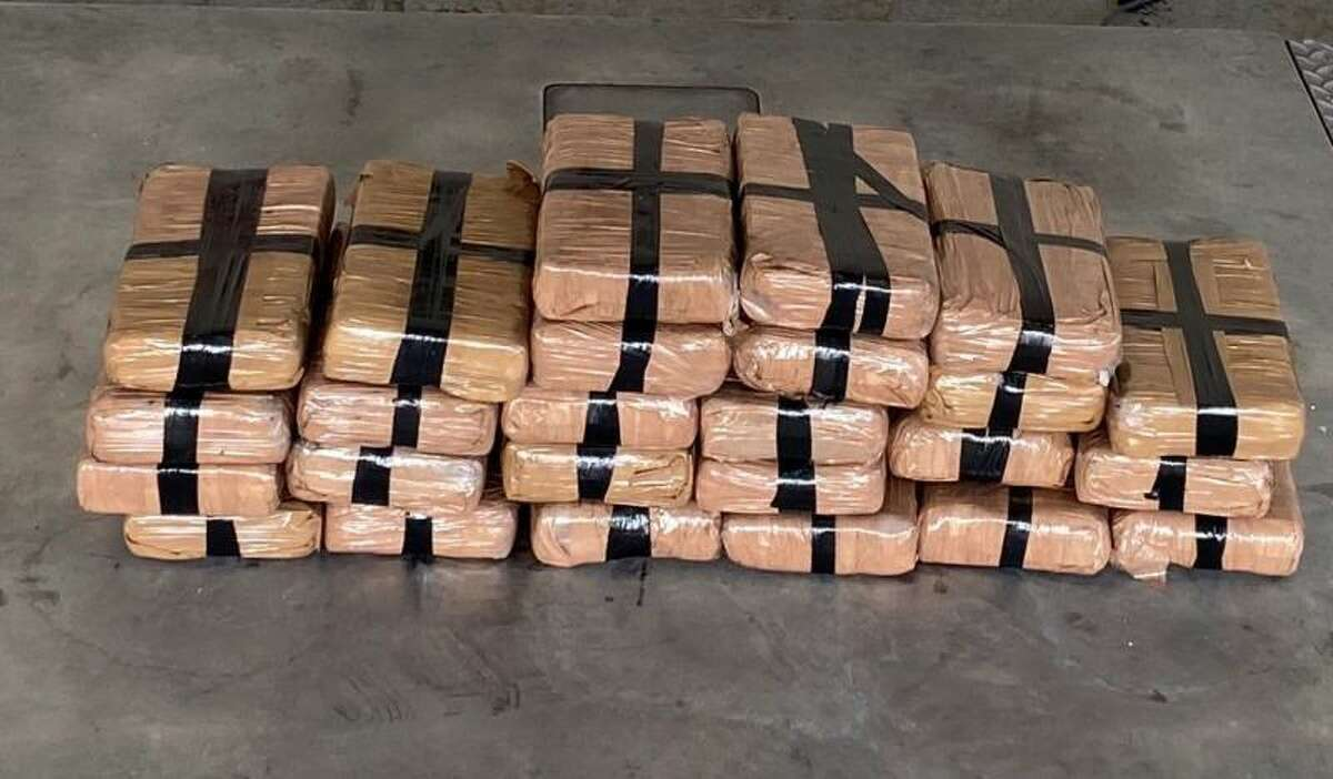 Packages containing more than 59 pounds of cocaine seized by CBP officers at Pharr International Bridge.