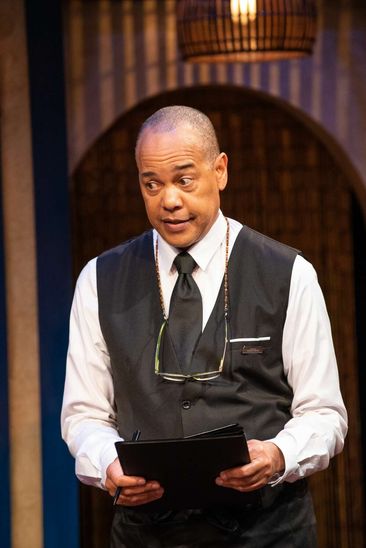 """Tyrone Mitchell Henderson co-stars in """"Slow Food,"""" running through July 31, 2021, at the Adirondack Theatre Festival in Glens Falls. (Jim McLaughlin/ATF.)"""