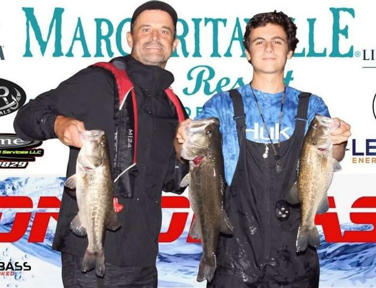 Robert and Grant Stevens came in third place in the CONROEBASS Tuesday Tournament with a weight of 10.28 pounds.