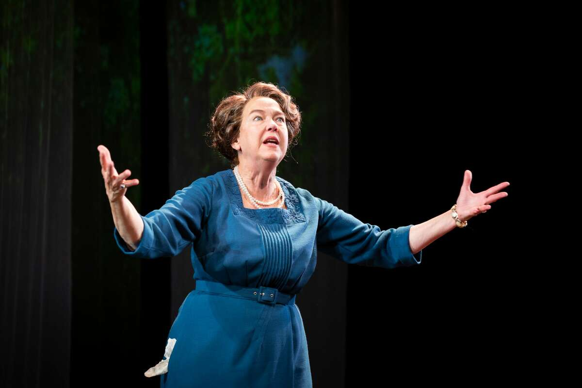 """Harriet Harris stars as Eleanor Roosevelt in the one-woman play """"Eleanor,"""" by Mark St. Germain. It runs through Aug. 7 on the Boyd-Quinson Stage at Barrington Stage Company in Pittsfield, Mass. (David Dashiell/BSC.)"""