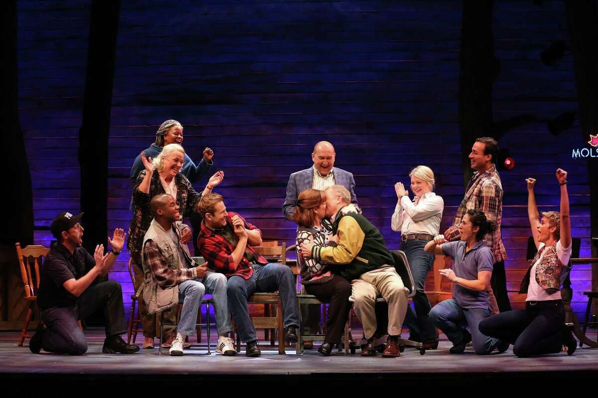 """The cast of the Ford's Theatre 2016 production of """"Come From Away,"""" directed by Christopher Ashley."""